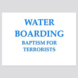 water boarding 5x7 Flat Cards