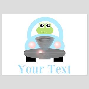 Personalizable Frog Driving Car Invitations
