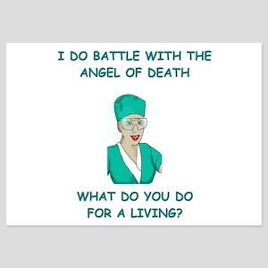 nursing 5x7 Flat Cards