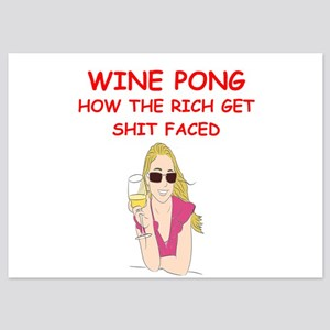 wine pong 5x7 Flat Cards