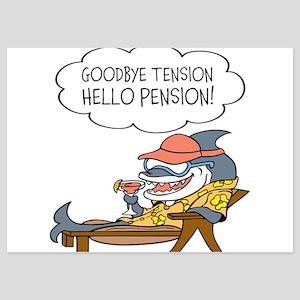 Goodbye Tension Hello Pension Retirement Invitatio