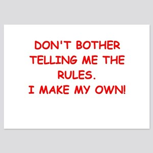 rules 5x7 Flat Cards
