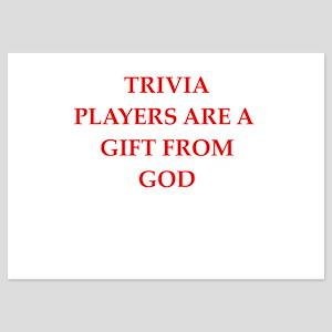 trivia 5x7 Flat Cards