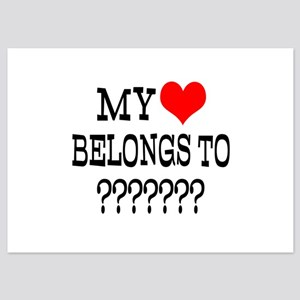Personalize My Heart Belongs To Invitations