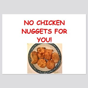 chicken nuggets 5x7 Flat Cards