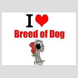 I Love Dog Breed Invitations