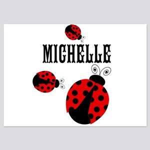 Cute Red | Black Ladybugs Name Invitations
