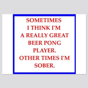 beer pong 5x7 Flat Cards