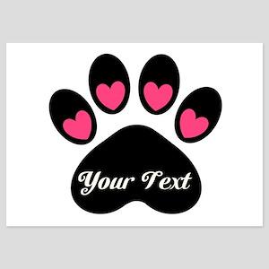 Personalizable Paw Print Invitations