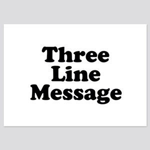 Big Three Line Message Invitations