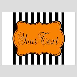Personalizable Orange and Black Script 2 Invitatio