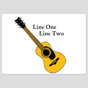 Custom Guitar Design Invitations