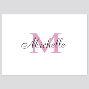 Personalized pink monogram Invitations