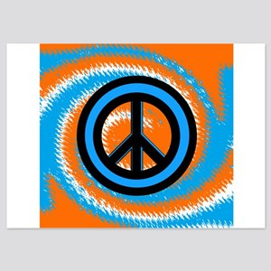 Orange Blue Peace Invitations