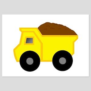 Yellow Dump Truck Invitations