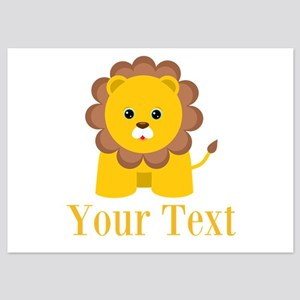 Personalizable Little Lion Invitations