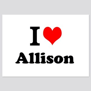 I Love Allison Invitations