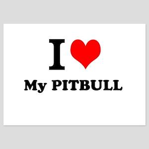 I Love My PITBULL Invitations