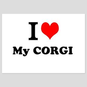 I Love My CORGI Invitations
