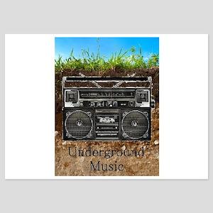 Underground Music 5x7 Flat Cards