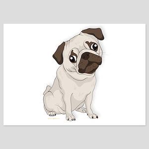 Pug Dog, Cute Little Pug Invitations
