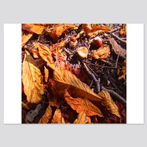 Autumn leaves and horse chestnuts in a Invitations