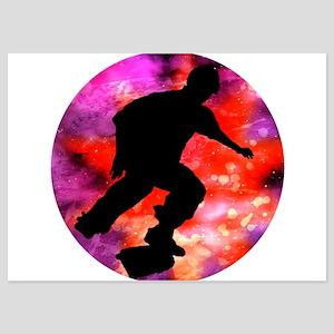 Skateboard in Cosmic Cloud Invitations