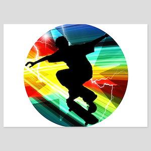 Skateboarder in Criss Cross Lightning Invitations