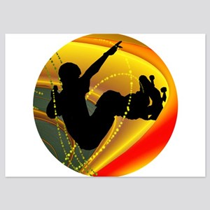 Skateboarding Silhouette in the Bowl. Invitations