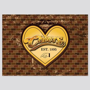 Cheers Heart 5x7 Flat Cards