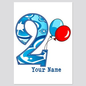 2nd Birthday Personalized 5x7 Flat Cards