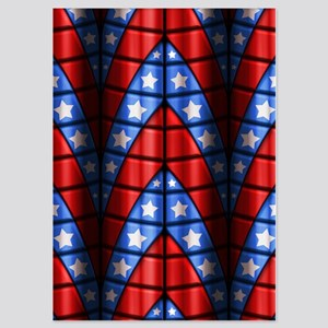 Superheroes - Red Blue White Stars 5x7 Flat Cards