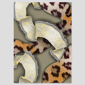 Leopards and Lace - Yellow 5x7 Flat Cards