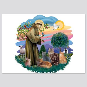 St Francis / 4 Cats 5x7 Flat Cards