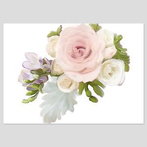 English Hybrid Tea Rose Blush Pink Suc Invitations