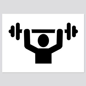 Weightlifting powerlifting 5x7 Flat Cards