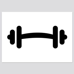 Barbell Dumbbell 5x7 Flat Cards