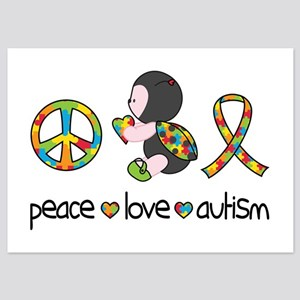 Peace Love Autism 5x7 Flat Cards