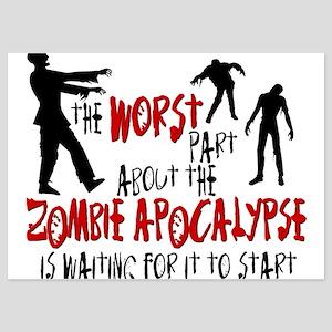 Zombie Apocalypse Waiting 5x7 Flat Cards