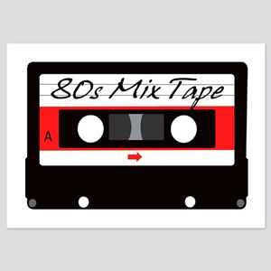 80s Music Mix Tape Cassette 5x7 Flat Cards