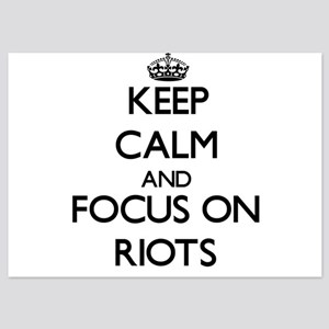 Keep Calm and focus on Riots Invitations