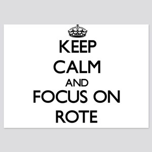 Keep Calm and focus on Rote Invitations