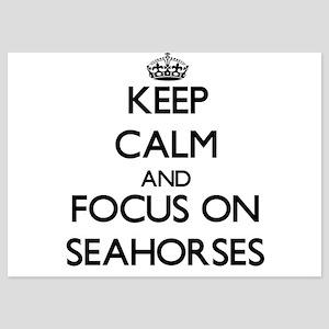 Keep Calm and focus on Seahorses Invitations