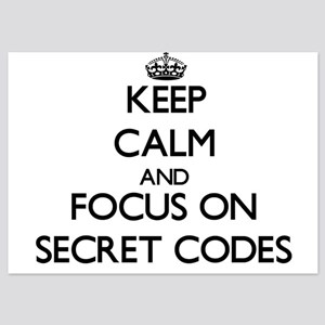 Keep Calm and focus on Secret Codes Invitations