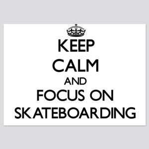 Keep Calm and focus on Skateboarding Invitations