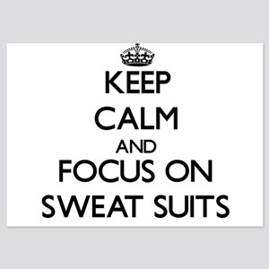 Keep Calm and focus on Sweat Suits Invitations