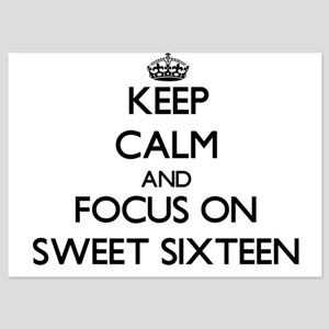 Keep Calm and focus on Sweet Sixteen Invitations