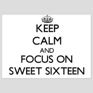 Keep Calm and focus on Sweet Sixteen Invitations