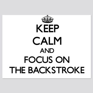Keep Calm and focus on The Backstroke Invitations