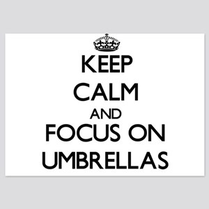 Keep Calm by focusing on Umbrellas Invitations